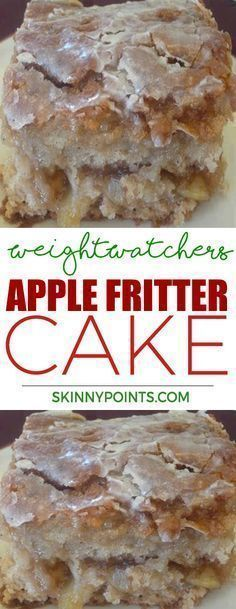 Apple Fritter Cake - Weight watchers smart Points Friendly