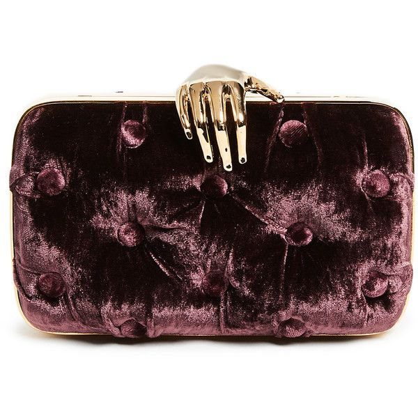 Benedetta Bruzziches Velvet Carmen Clutch ($805) ❤ liked on Polyvore featuring bags, handbags, clutches, prune, velvet handbags, shoulder strap purses, velvet clutches, shoulder strap handbags and benedetta bruzziches