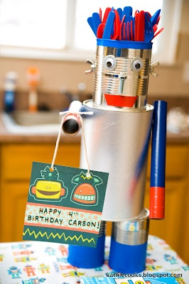 cute robot birthday party ideas...