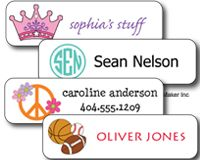 NEW! MINI-SIZE  Waterproof Sticker Labels for school supplies, food containers, and sports/dance gear. These labels are for the little things your kids lose.