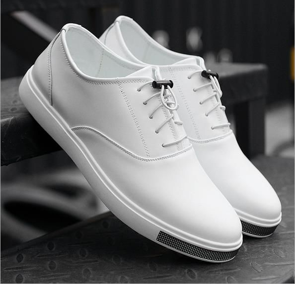 38-44 Sale Men's Shoes White Shoe Leather New Fashion In The Fall And Winter Of 2017 Casual Male Flat