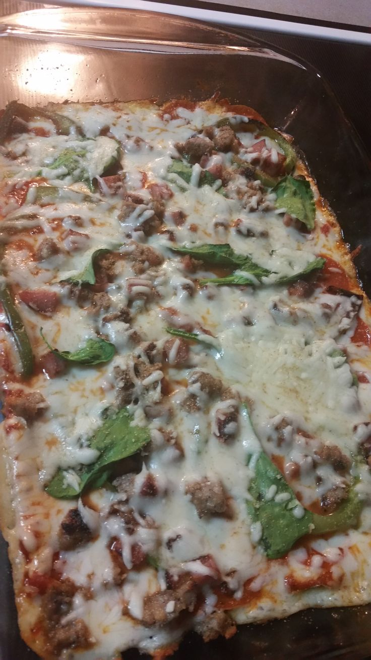 Make and share this NO Dough Pizza  Low Carb Cream Cheese Pizza Crust recipe from Food.com.