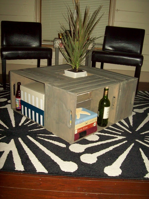 61 best images about Wine Crate Tables