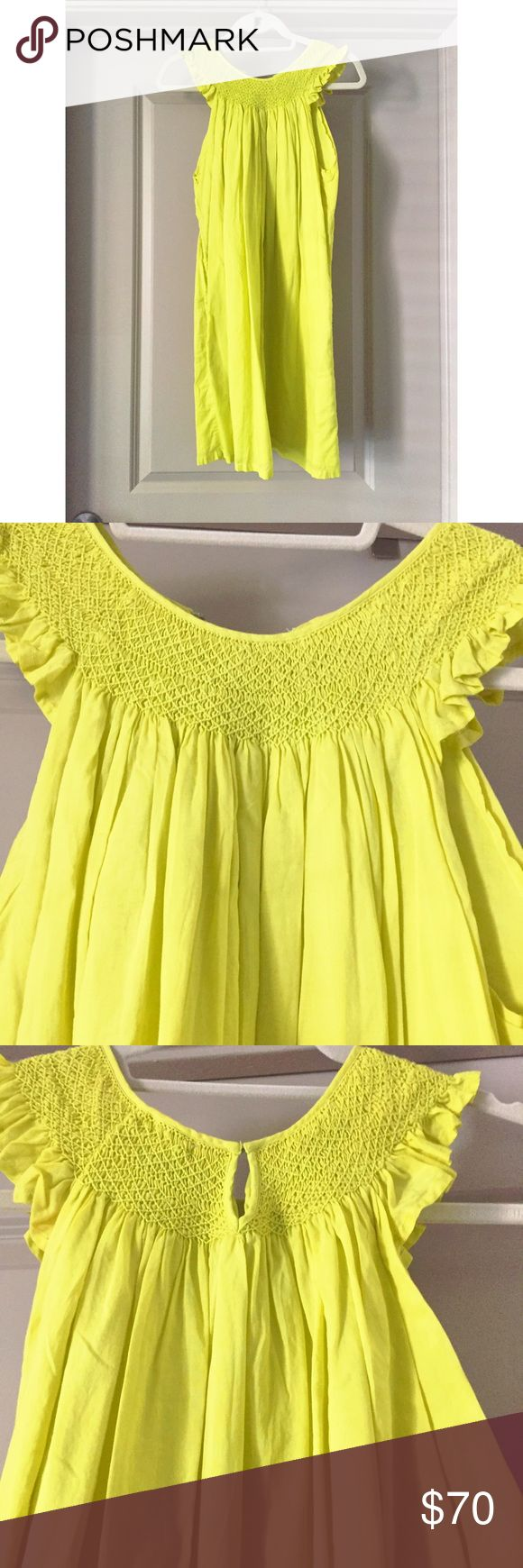 J. Crew Neon Green Dress Neon green dress from J. Crew. Only worn once! VERY loose and comfy! J. Crew Dresses