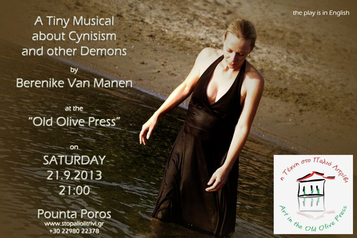 """A tiny musical about cynicism and other demons"", a theatre play by Berenike van Manen with herself."