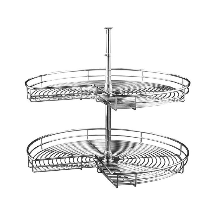 "Rev-A-Shelf 5472 2 Shelf Kidney 32"" Chrome 5472-32-CR  