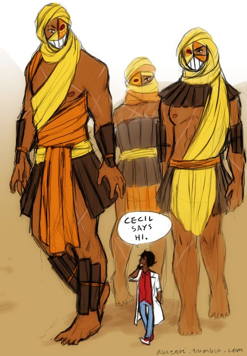I like to think Carlos talks about Cecil a lot to the giant masked army (when he's not busy sciencing, that is)