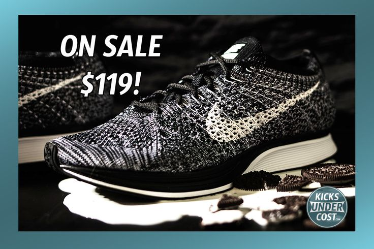 """Oreo Flyknit Racer on sale for $119 with code """"10GREEN100"""""""