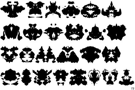 RORSCHACH BLOTS .... the foundation for some really quirky art.