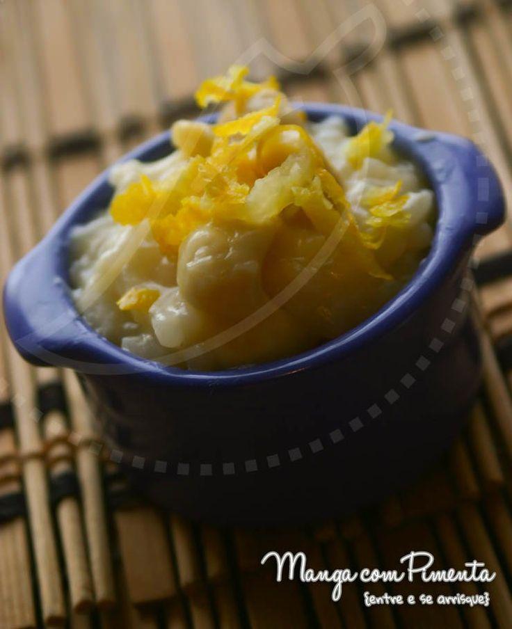 Risoto de Limão Siciliano, perfeito para o Almoço do Dia dos Pais. Clique na imagem para ir ao Manga com Pimenta e conferir a receita.
