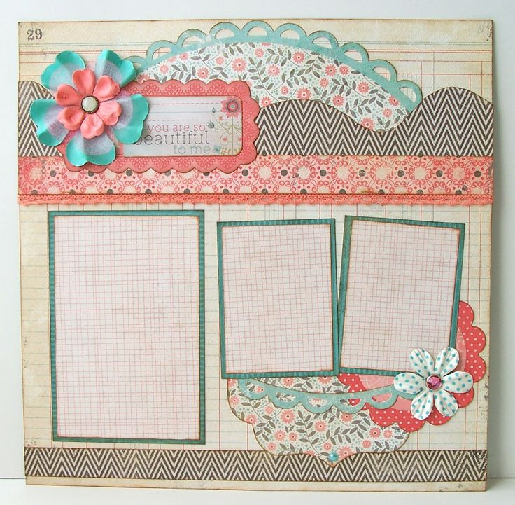 You Are So Beautiful To Me Premade 1 Page 12x12 Scrapbook Layout. $8.95, via Etsy.