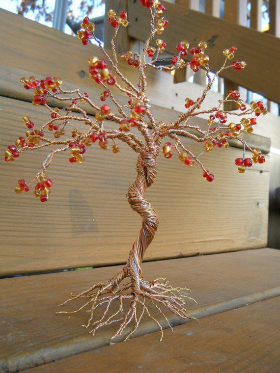 Twisted Wire Tree Sculpture by zialove603 on Etsy, $23.00