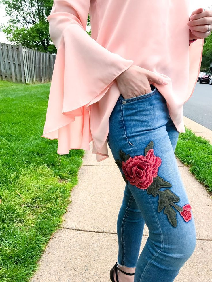 bell sleeve | bell sleeve top | bell sleeve top outfit | embroidery | embroidered jeans | wedges | wedge sandals | espadrilles | espadrilles outfits | espadrilles wedges | outfit ideas | style fashion | style inspiration | spring fashion | spring outfits