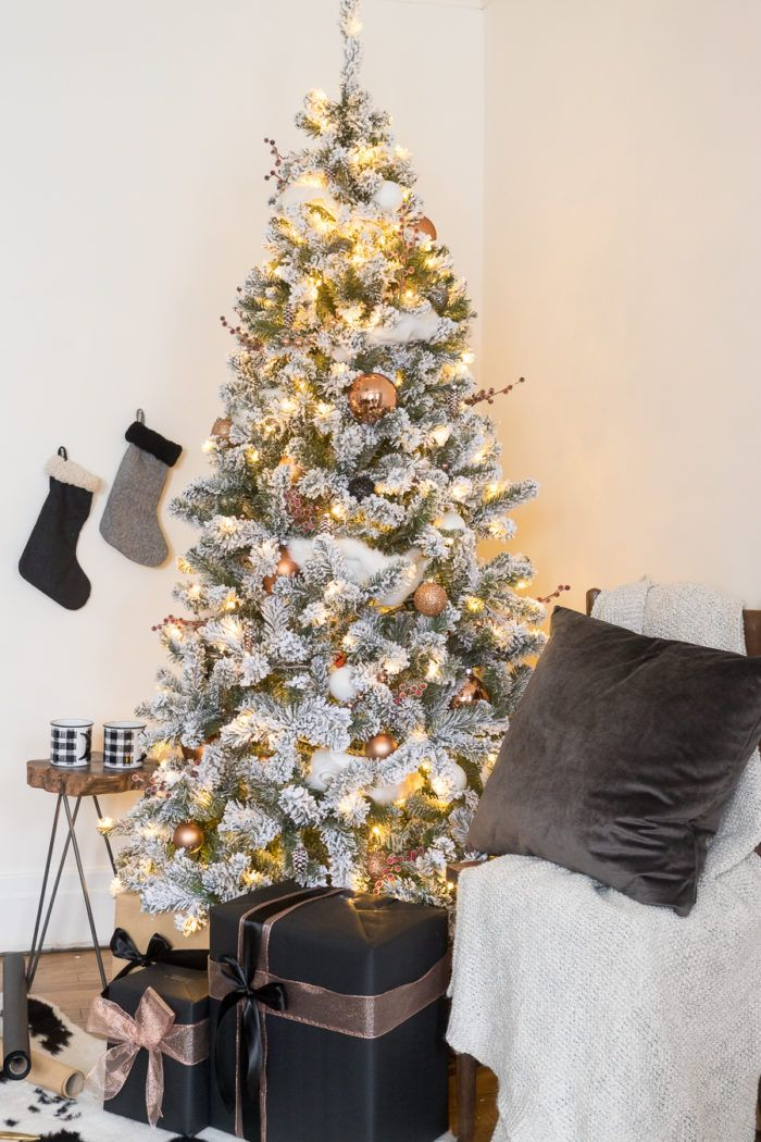White and Copper Christmas Tree Decor | Christmas 2018 Home Tours |  Pinterest | Christmas, Christmas tree decorations and Christmas Tree - White And Copper Christmas Tree Decor Christmas 2018 Home Tours
