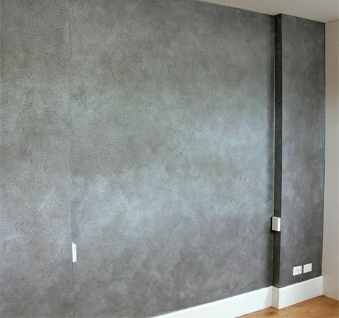 Hammered Silver Wax Feature Wall Finishes Brendan Lakin