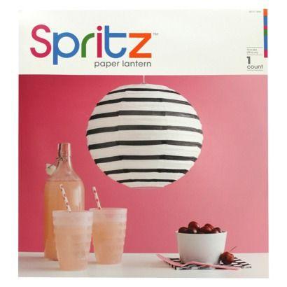 Target Black Stripe Paper Lantern $3