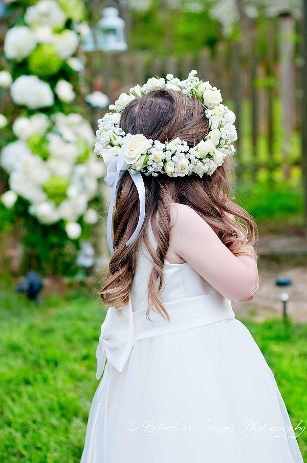 22 best flower girl halos images on pinterest. Black Bedroom Furniture Sets. Home Design Ideas