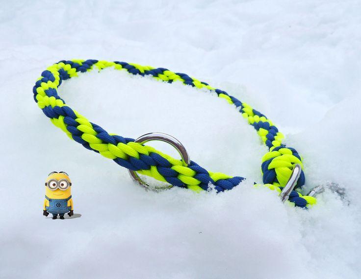 minions themed zig-zag yatsu kongo martingale style collar