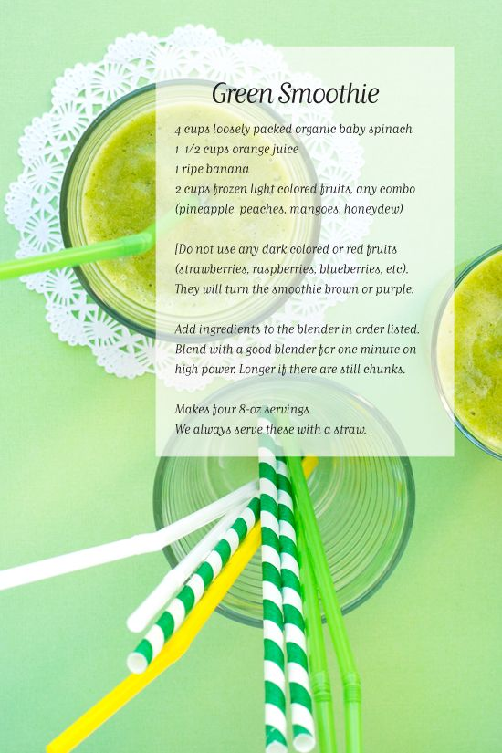 st. pattys day smoothie