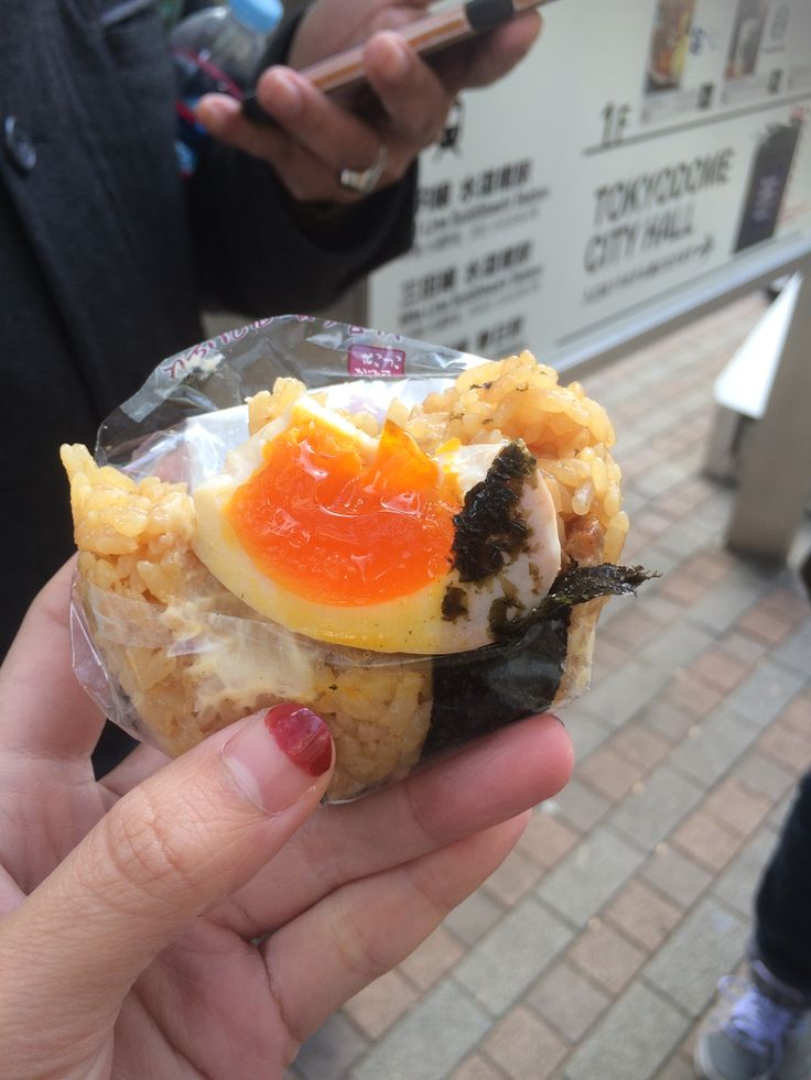 Egg onigiri only at 7-11