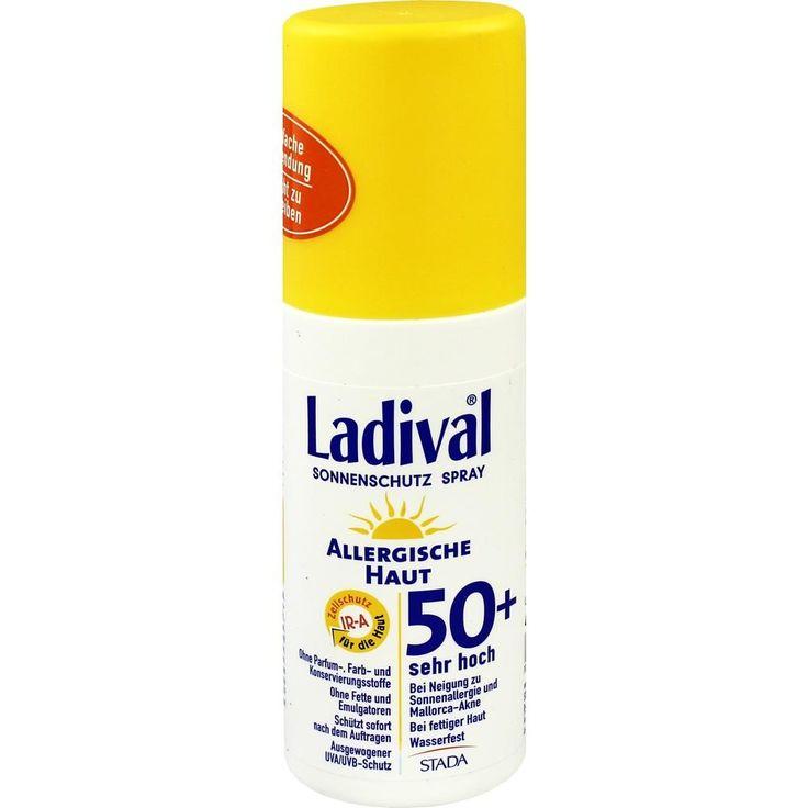 LADIVAL allergische Haut Spray LSF 50+:   Packungsinhalt: 150 ml Spray PZN: 10022646 Hersteller: STADA GmbH Preis: 13,52 EUR inkl. 19 %…