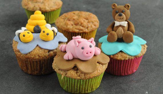 Cupcakes de Manzana con Figuritas de Animales