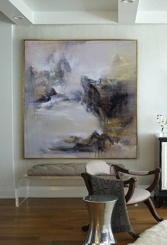 Large Abstract Oil Painting Textured Large Wall Art Wall Etsy
