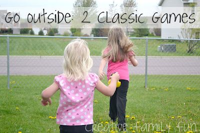 Here are a couple of easy, classic outdoor games to play with your kids. What was your favorite outdoor game to play when you were young?Outside Games, Business Teaching, Classic Outdoor, Creative Families, Favorite Outdoor, Classic Games, Families Fun, Outdoor Games, Green Lights