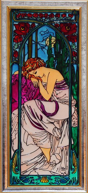 Alphonse Mucha - La Nuit (Night)+