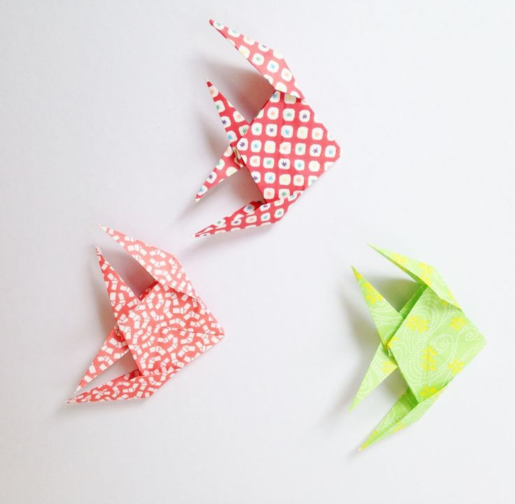 poissons origami michiaki -origami fish