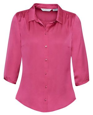 Shimmer Ladies 3/4 Sleeve Blouse