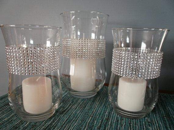 Hurricane Bling Wedding Centerpiece Vases Crystal by tiasdresses,