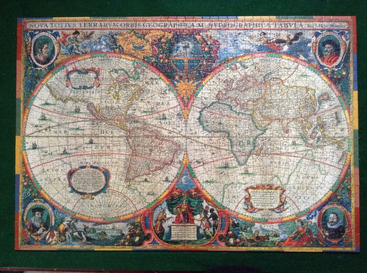 Antique World Map, for armchair travellers