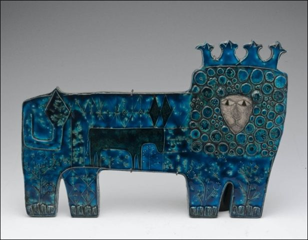 Rut Bryk  Lion ceramic wall relief, 1957