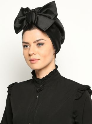 Bowtie Bonnet - Black - Miray
