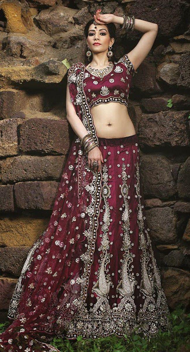 Dazzling Diva Maroon #Lehenga #Choli