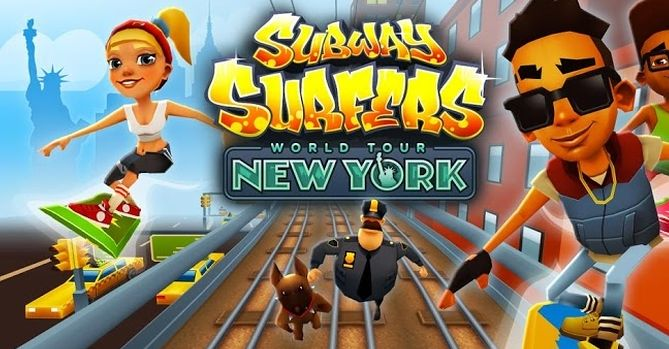 Simply download the modded apk of Subway Surfers New York America and get unlimited coins and keys hack on your device