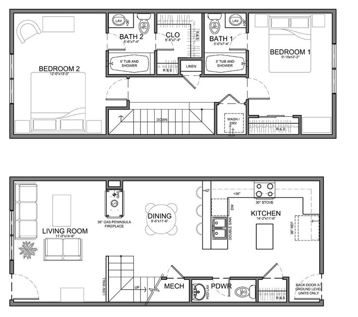small skinny house plans  This unit is about the same size but slightly wider and less deep. It