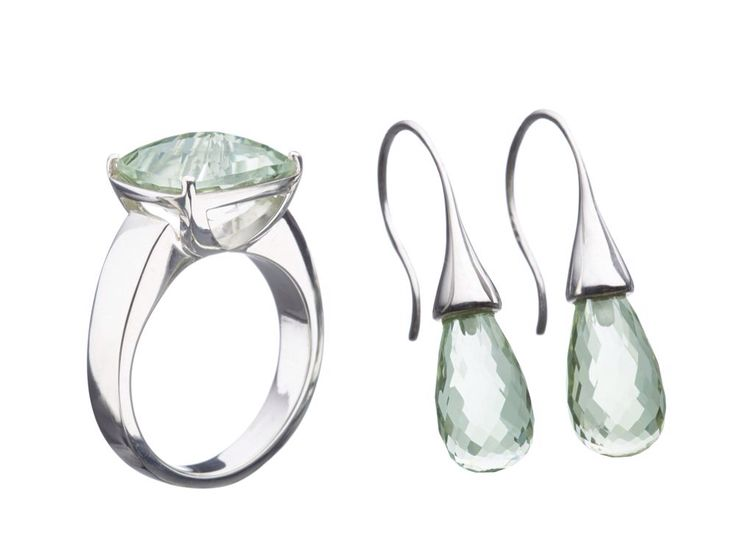 The stunning 'Classic' earring and ring set from the exclusive Orion Joel silver range