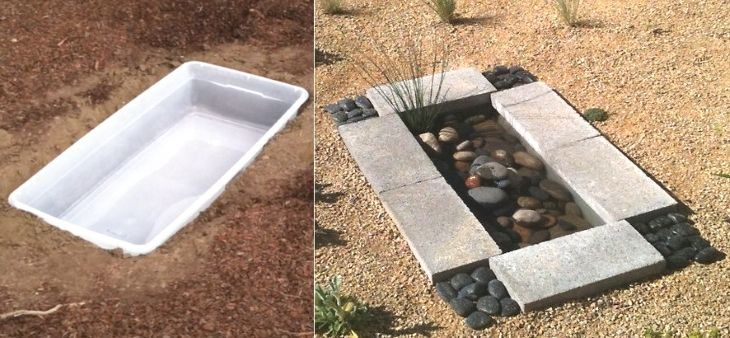 Now, this is quite the plastic bin transformation– plastic bin to a fancy zen-looking water fountain. This is a perfect DIY backyard project for garden lovers everywhere. It's affordable, aesthetically pleasing with clear instructions provided by The Garden Glove.