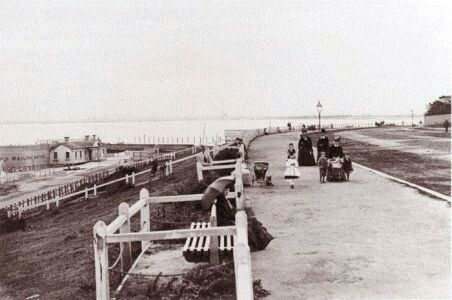 St Kilda Promenade in Victoria in the 1880s.