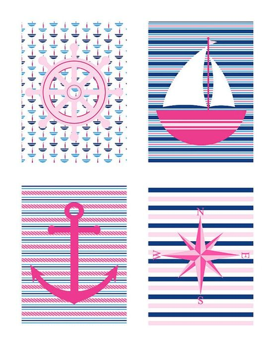 love these prints for a girls nursery