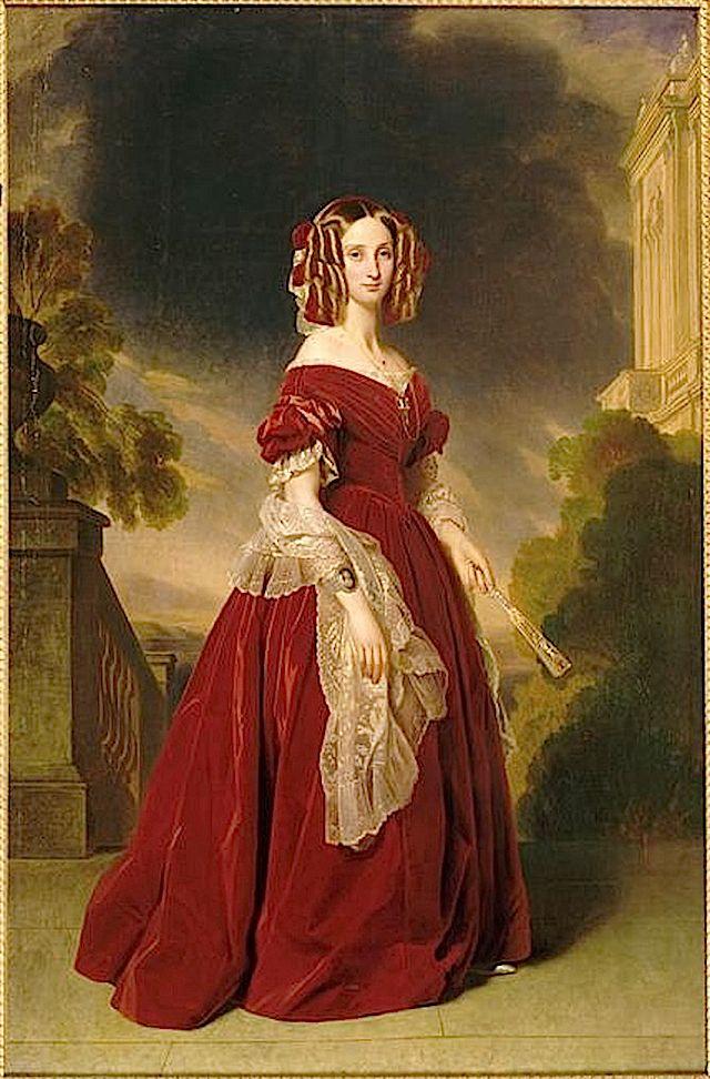 1841 Louise-Marie-Thérèse-Charlotte-Isabelle d'Orléans, reine des Belges by Franz Xaver Winterhalter (châteaux de Versailles et de Trianon - Versailles France)