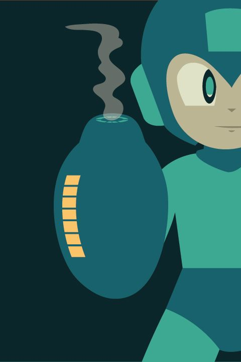 Video Game Character Illustrations by Andrew Heath - Megaman - simple