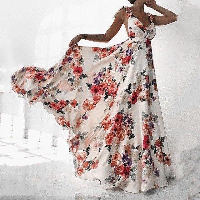 Bohemian Floral Dress