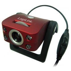 Logilink USB 2.0 bordó-fekete #mikrofonos #webkamera (UA0067)