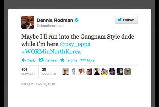 rodman twitter tweet north korea kim jong un launches rocket while smoking Camels get the inside news on North Korea http://miami-water.com/blog/kim-jung-un-north-korea-war-news-today-rocket-attack-nuclear-army-ready/