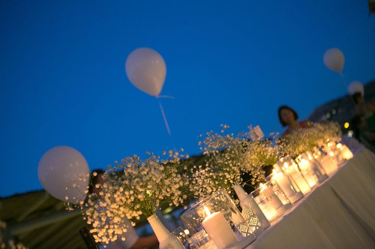 Baby's breath table centerpieces- Mitheo Events | Concept Events Styling