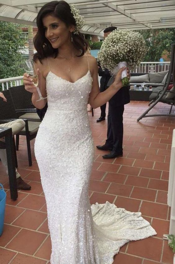 1c337d4f17f Charming Sweetheart Bridal Dress Spaghetti Straps Mermaid Wedding Dresses  by PrettyLady