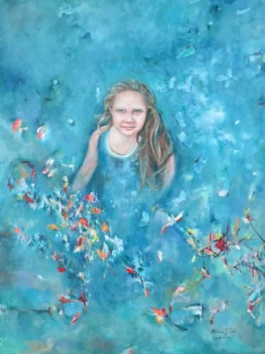 "Saatchi Art Artist ADRIENNE SILVA; Painting, ""Isabella"" #art"